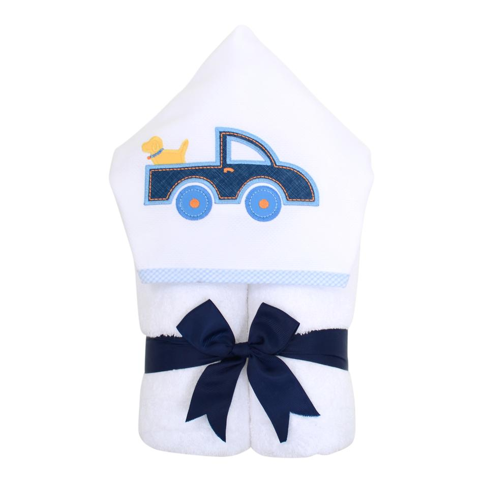 Blue Truck Hooded Towel
