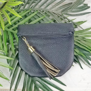 Small Faux Leather Tasse Pouch