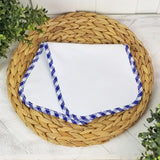 Blue Gingham Burp Cloth