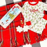 Happy Holly Days Long Pj Set By Magnolia Baby