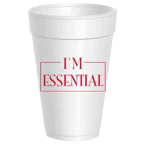 """I'm Essential"" Party Cups"