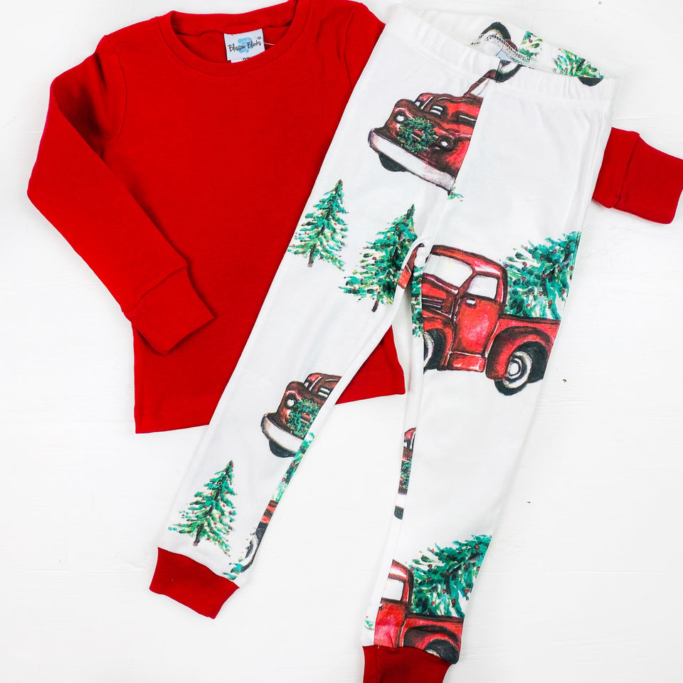Christmas Trucks PJ Set Children