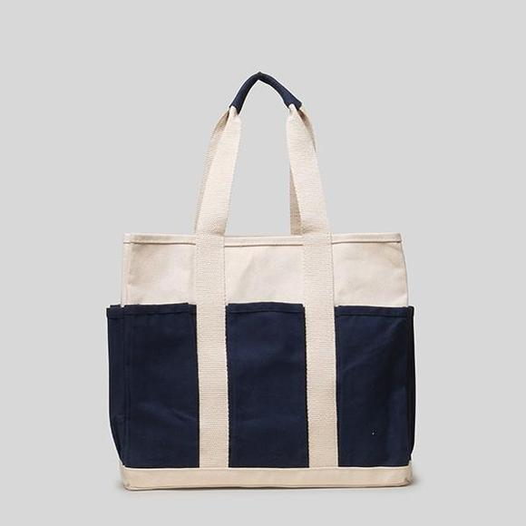Medium Grocery Tote w/ Outside Pockets