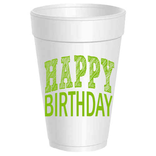 """Happy Birthday"" Party Cups"