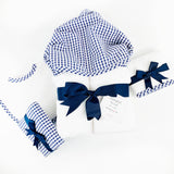 Navy Gingham Hooded Towel by 3 Marthas