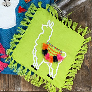 Fringed Fancy Cocktail Napkins Set/4