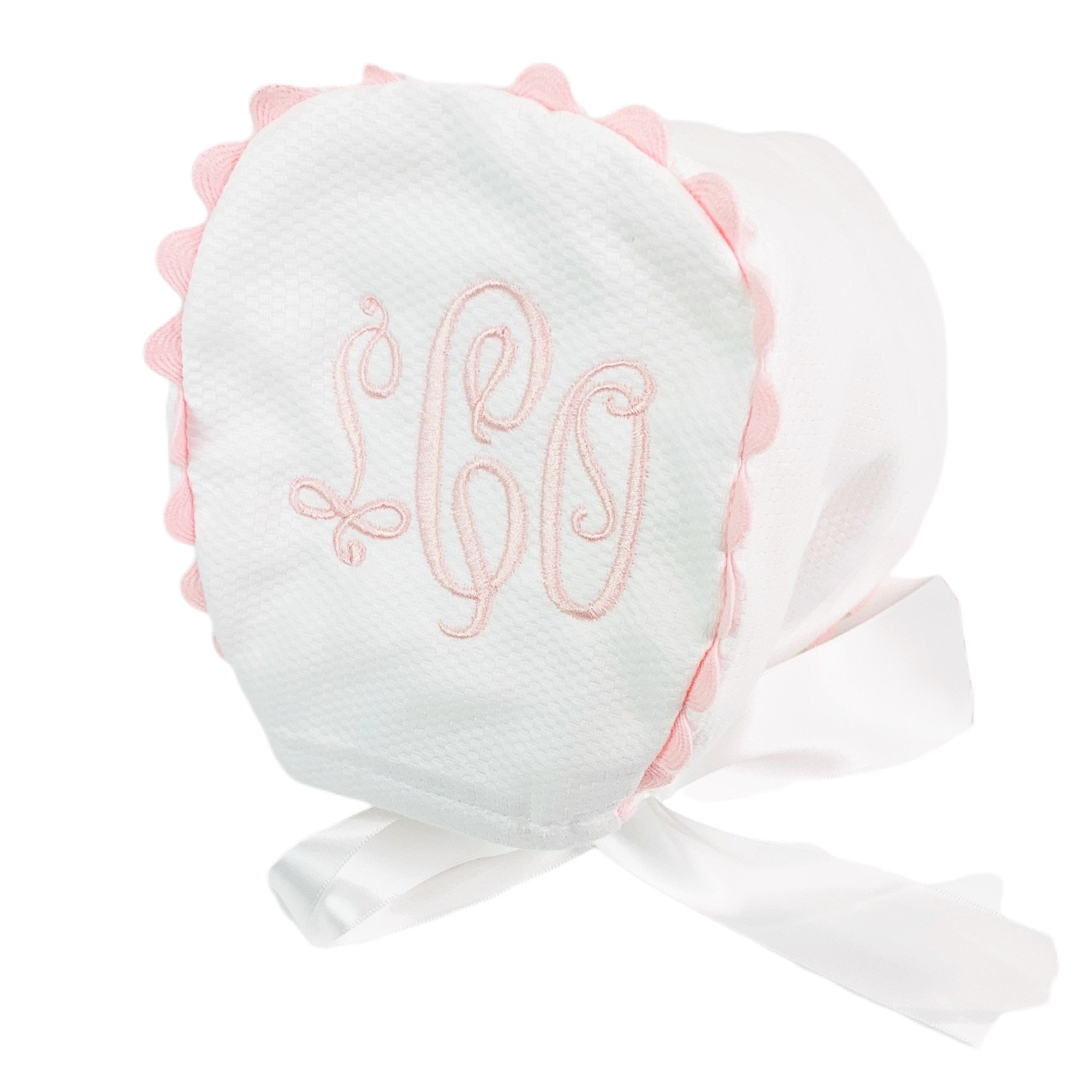 Baby Bonnet with Ric Rac Trim