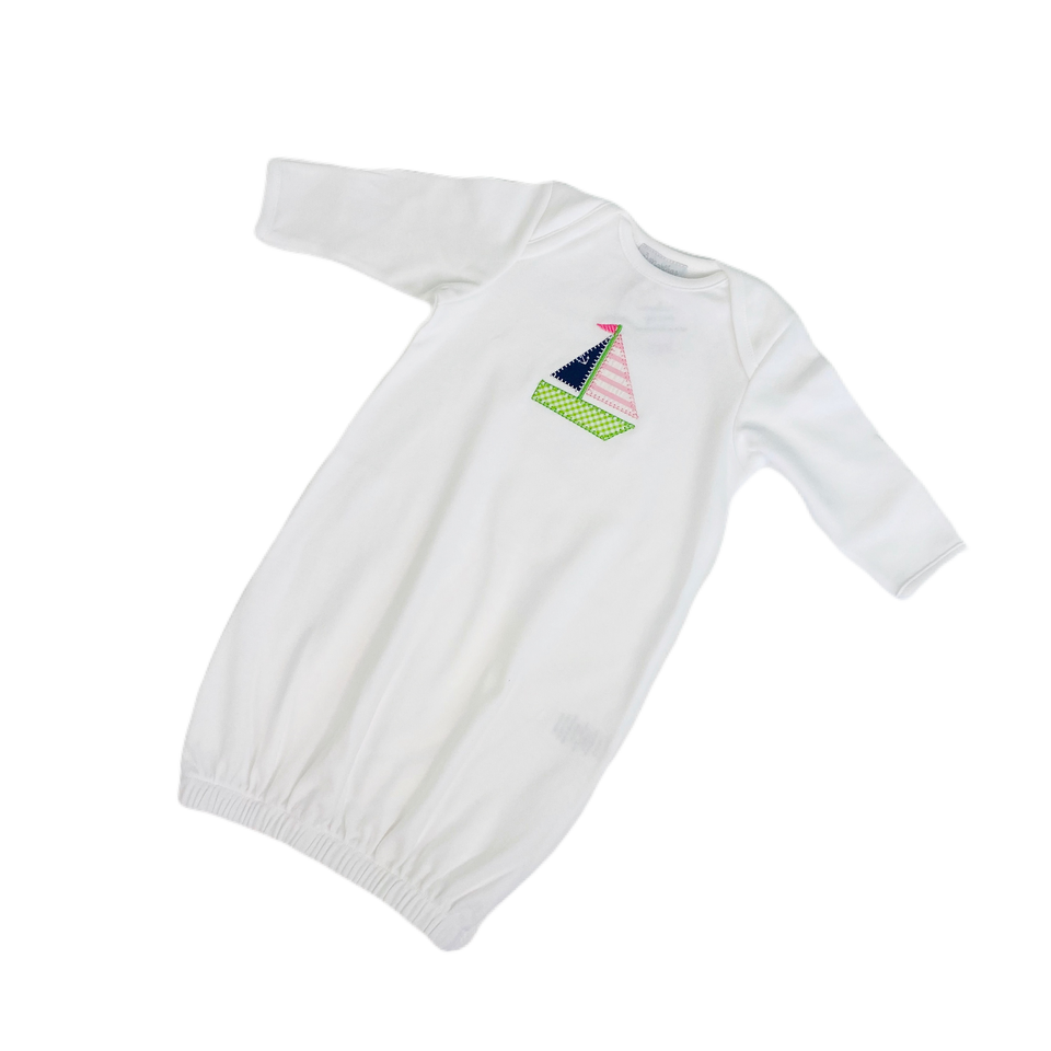 Sailboat Newborn Gown
