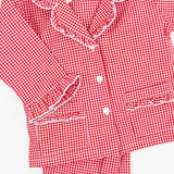 Red Gingham Girl 2-Pc PJ Set