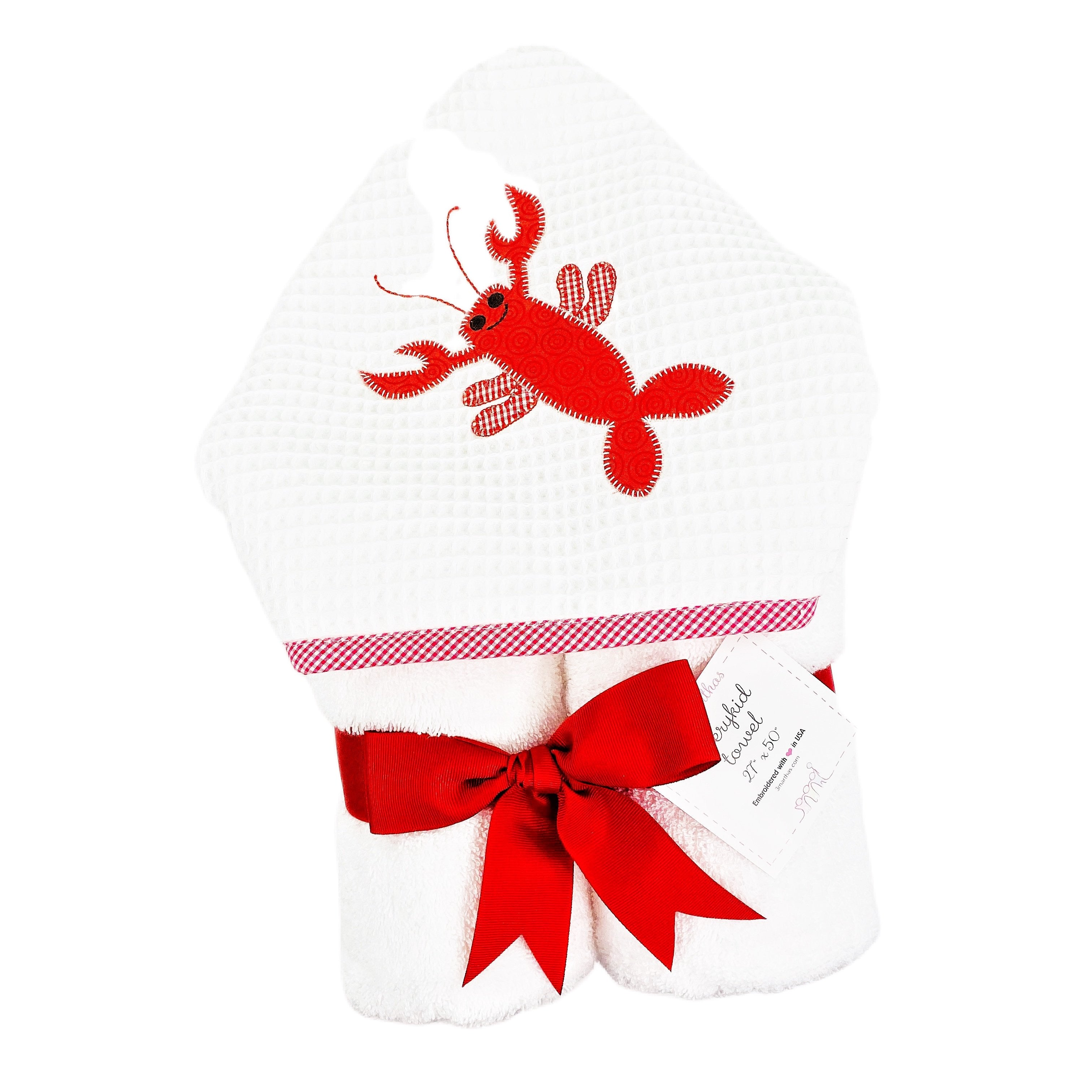 Lobster Love Every Kid Hooded Towel