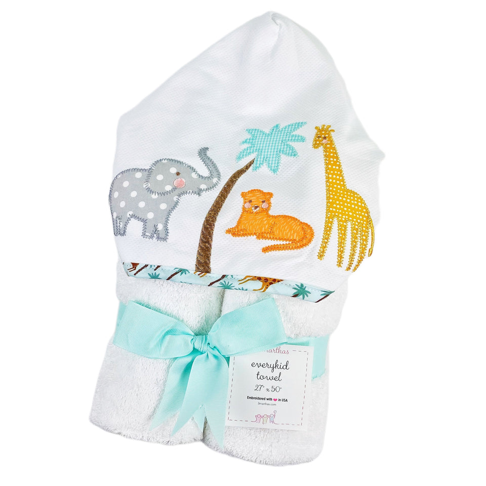 Safari Every Kid Hooded Towel