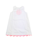 Little Girl Dress with Ric Rac Trim