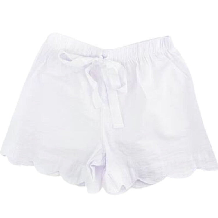 Scalloped Seersucker Boxers