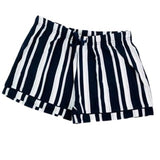 Navy and Grey Stripe Sleep Shorts