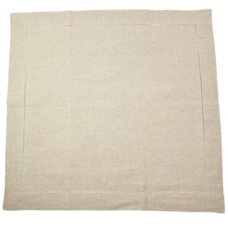 Oatmeal Linen Blend Euro Sham with Hemstitch