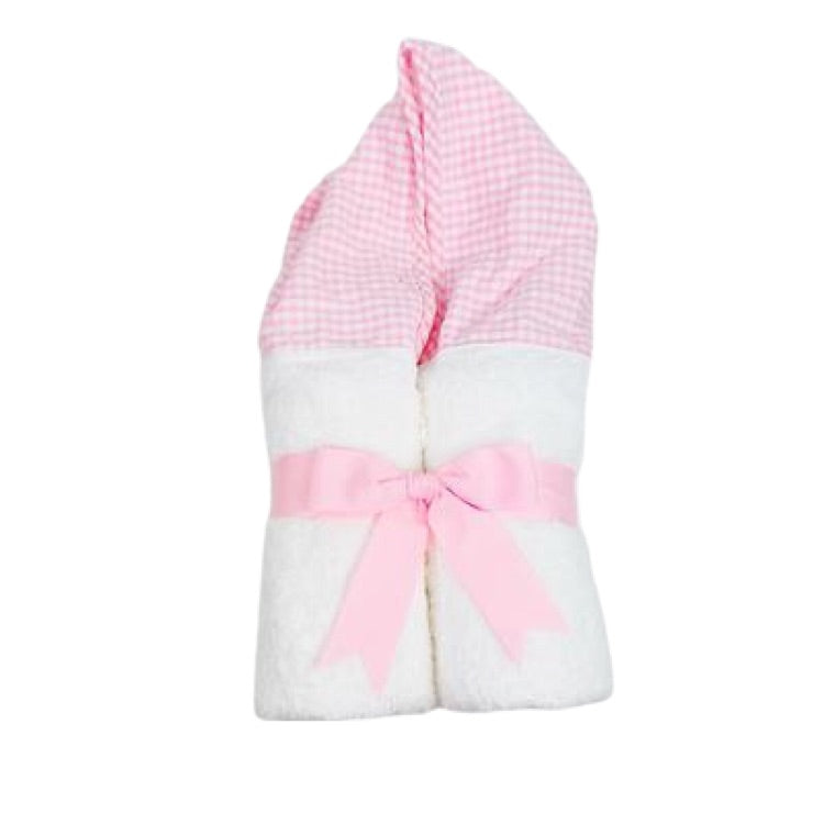 Pink Gingham Hooded Towel