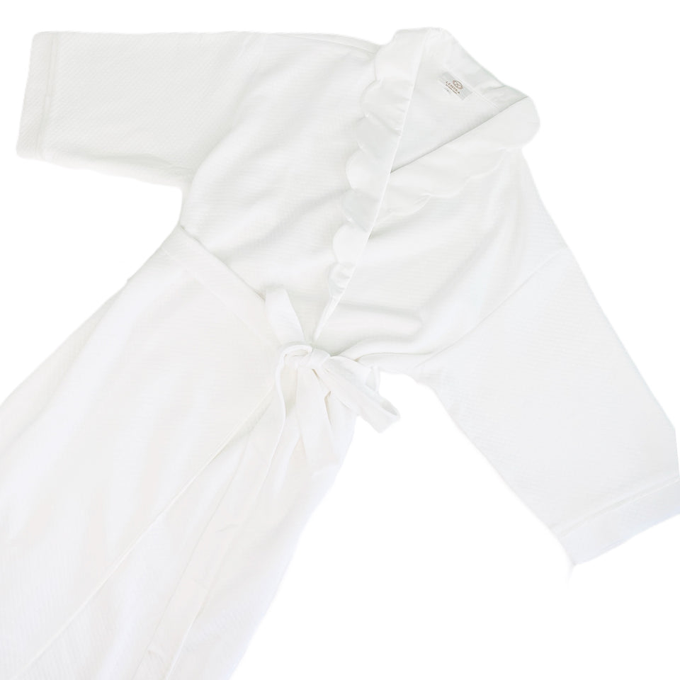 Helen Scallop Robe with White Trim