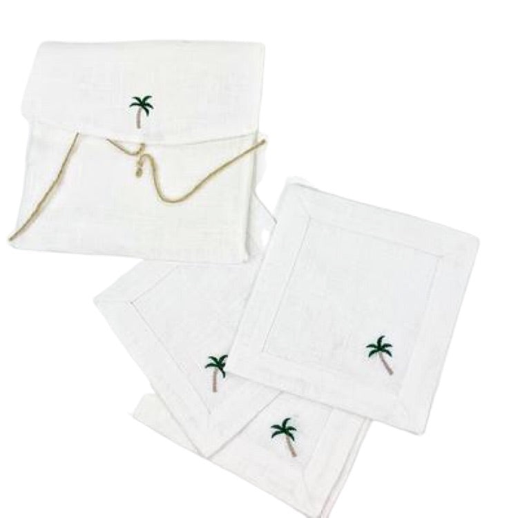 Palm Tree Cocktail Napkin Set