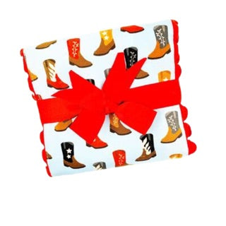 Fancy Cowboy Boots Burp Pad by 3 Marthas