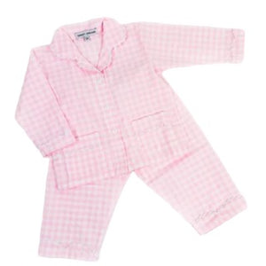 Pink Gingham Girl's PJs
