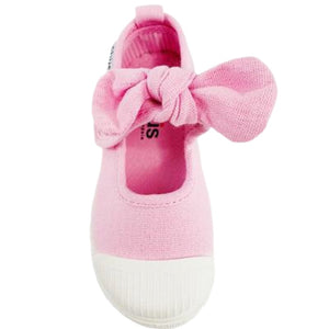 Little Girl's Light Pink Bow Slip-on Shoes by Chus