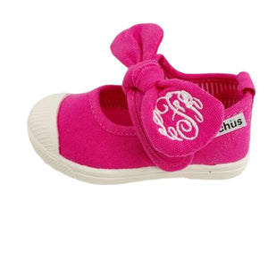 Little Girl's Hot Pink Bow Slip-on Shoes by Chus