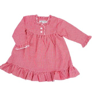 Red Gingham Girl Nightgown