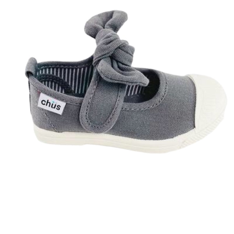 Little Girl's Grey Bow Slip-on Shoes by Chus
