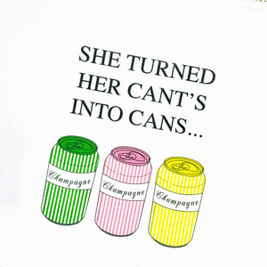 Cant's into Cans Small Cosmetic Bag by Toss Designs