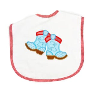 Cowboy Applique Bib by 3 Marthas
