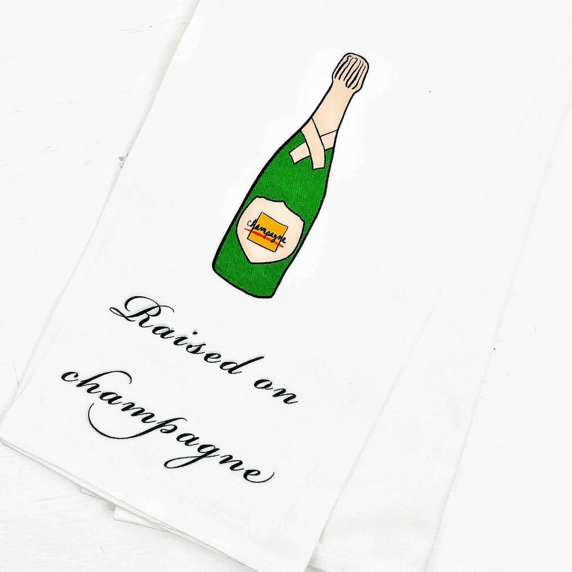 Raised on Champagne Bar Cart Towel