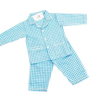 Blue Gingham Boy Pj