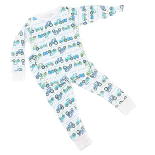 Tractor Time Long Pj Set By Magnolia Baby