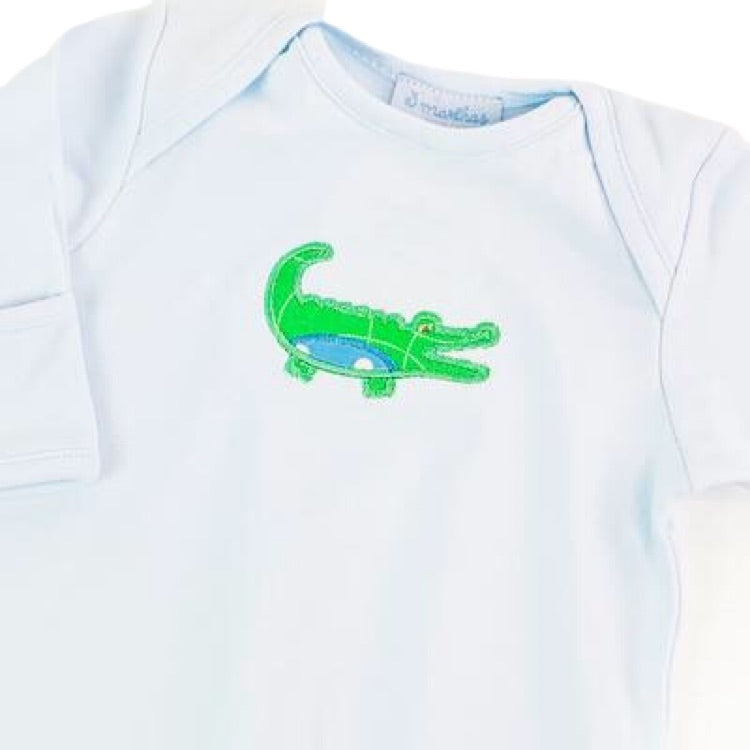 Alligator Infant Gown by 3 Marthas