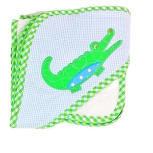 Alligator Hooded Towel With Washcloth