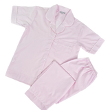 Pink Seersucker Short Sleeved Mom's PJ Set