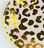 Gold Cheetah Small Party Plate (paper)