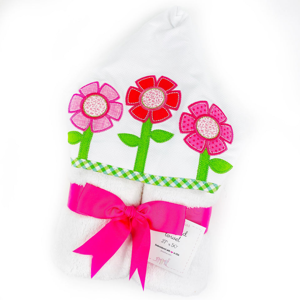 Fancy Flower Hooded Towel