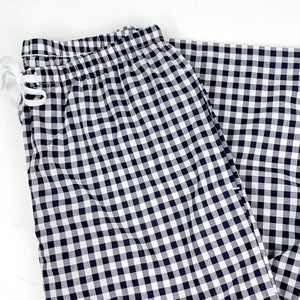 Black and White Checkered Capri PJ Set in Pima Cotton