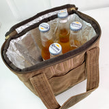 Waxed Canvas Lunch Tote-Small