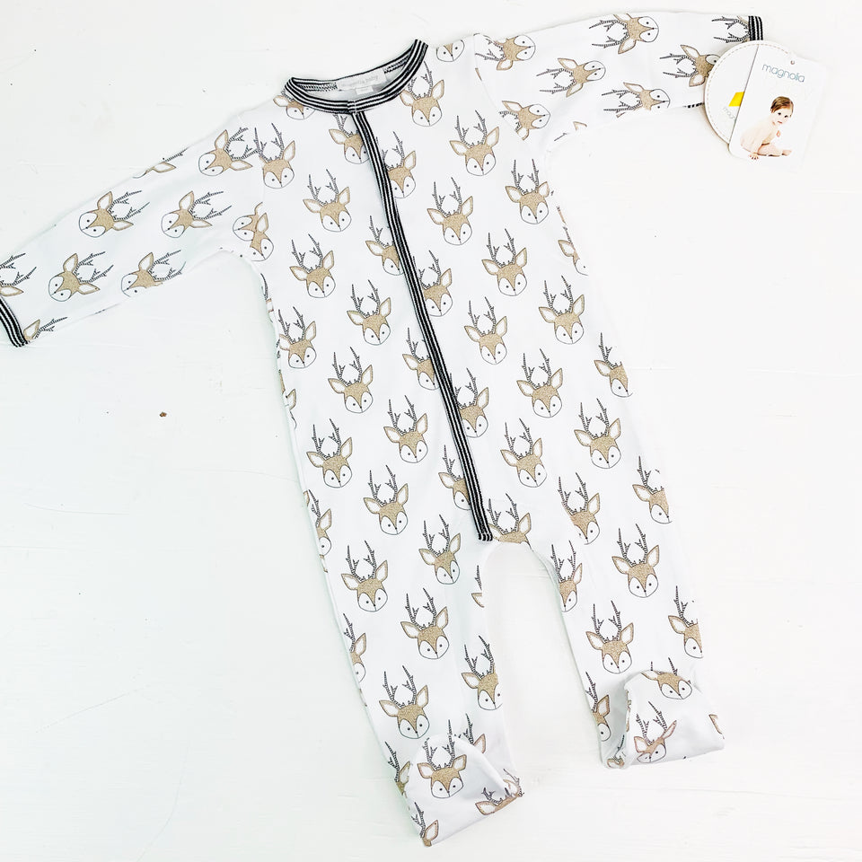 Little Buck Footie PJs by Magnolia Baby