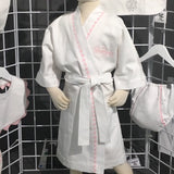 Little Girls Pique Cotton Spa Robe