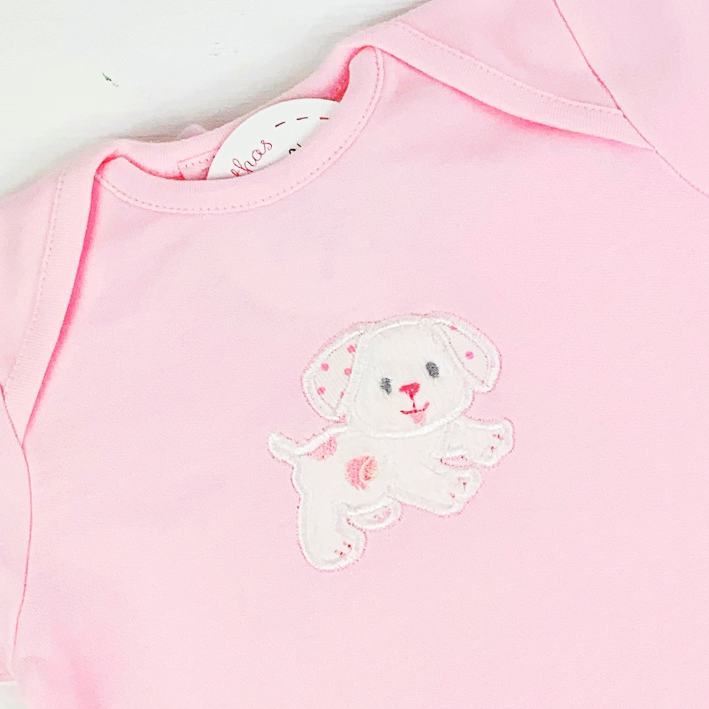 Puppy Onesie in Pink or Blue by 3 Marthas