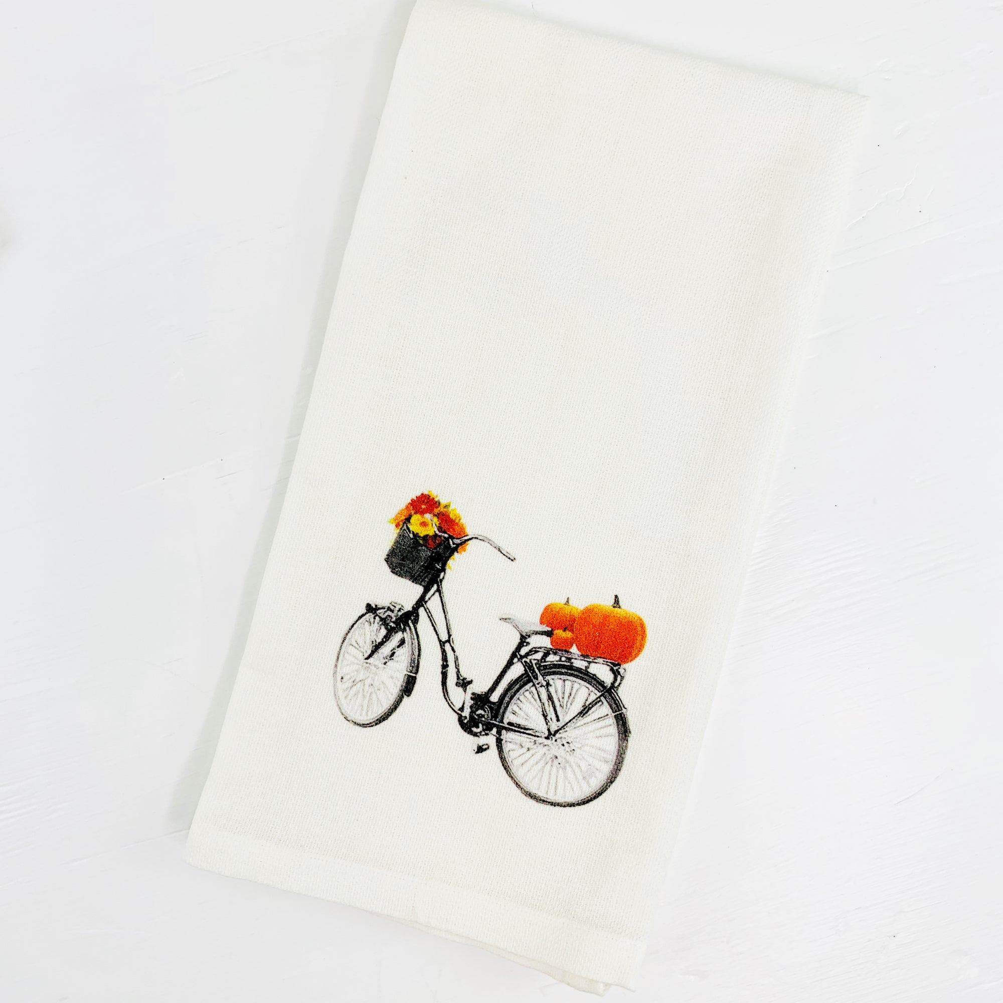 Cotton Fall Bicycle Guest Towel