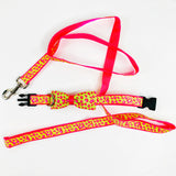 Lime Green and Hot Pink Leopard Dog Leash