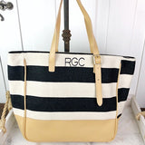 Black Stripe Tote by Christen Maxwell