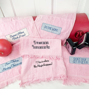 SWEAT TOWEL-Pink and Sassy