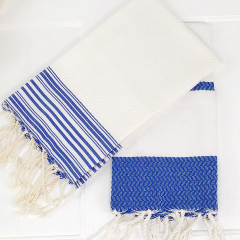 Fouta Turkish Guest Towel With Herringbone Weave