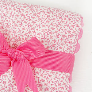 Fancy Pink Floral Burp Pad by 3 Marthas