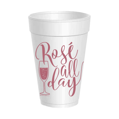 """Rosé All Day"" Party Cups"
